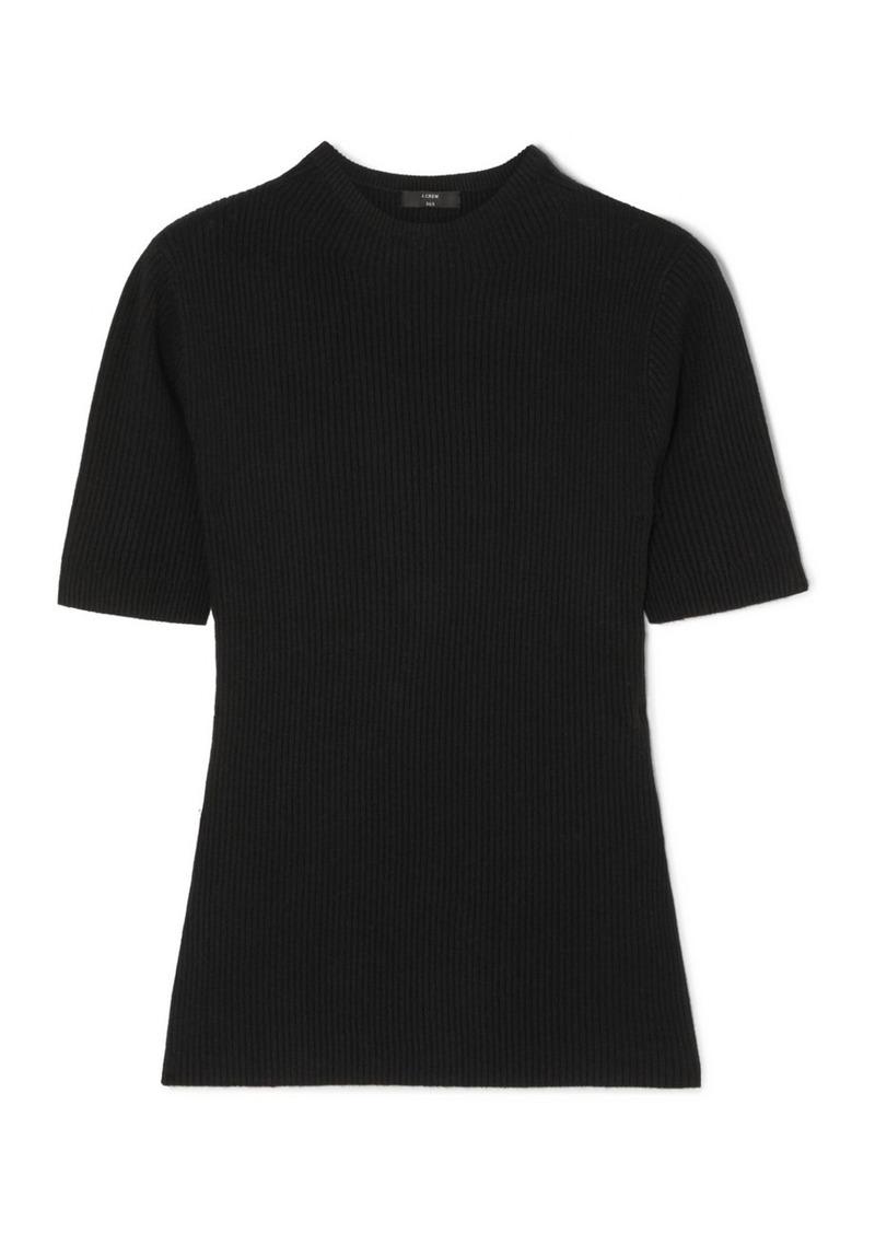 J.Crew Ribbed-knit T-shirt