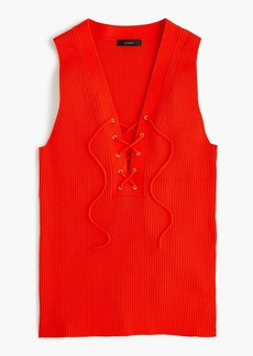 J.Crew Ribbed lace-up sweater tank