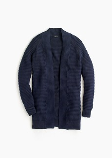 J.Crew Ribbed long cardigan sweater