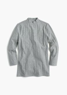 J.Crew Ribbed mockneck three-quarter sleeve T-shirt