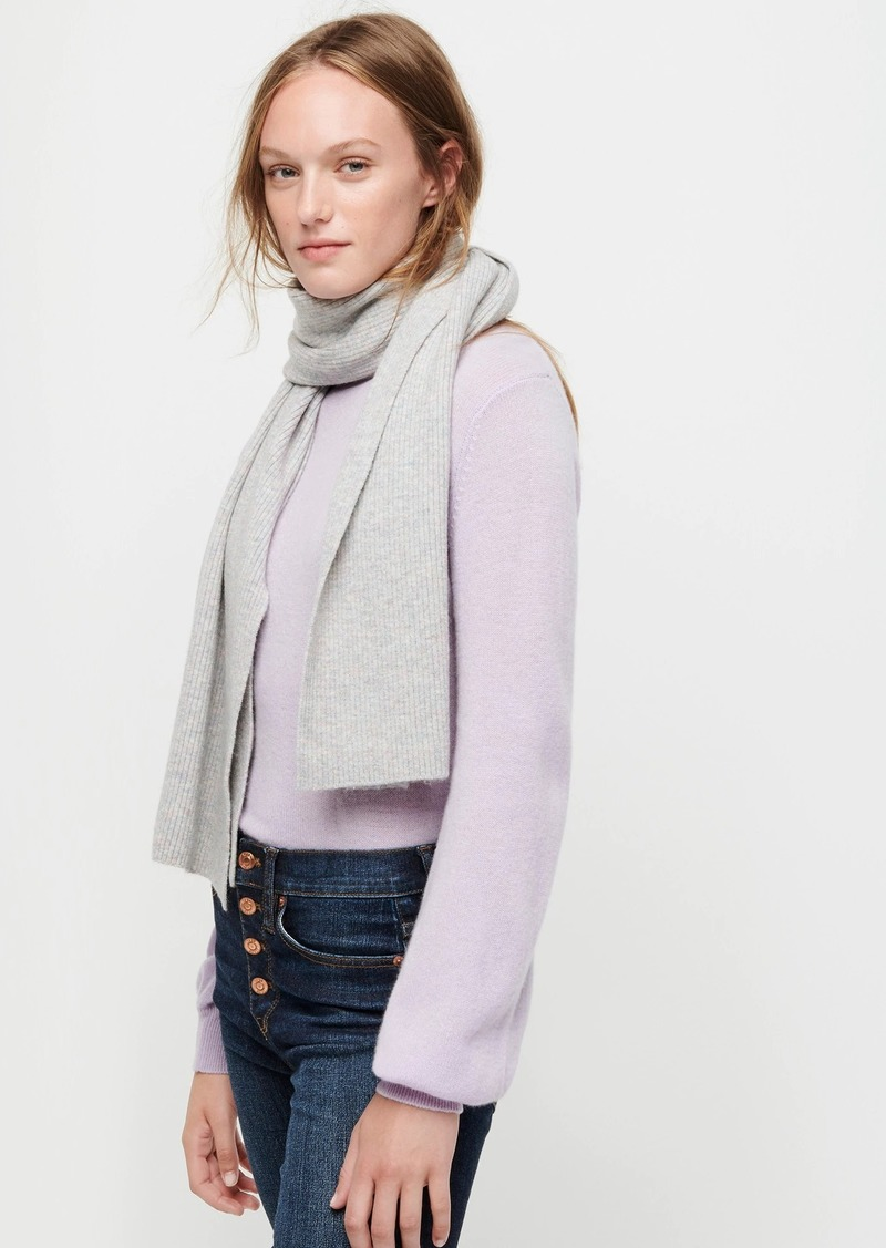J.Crew Ribbed scarf in supersoft yarn