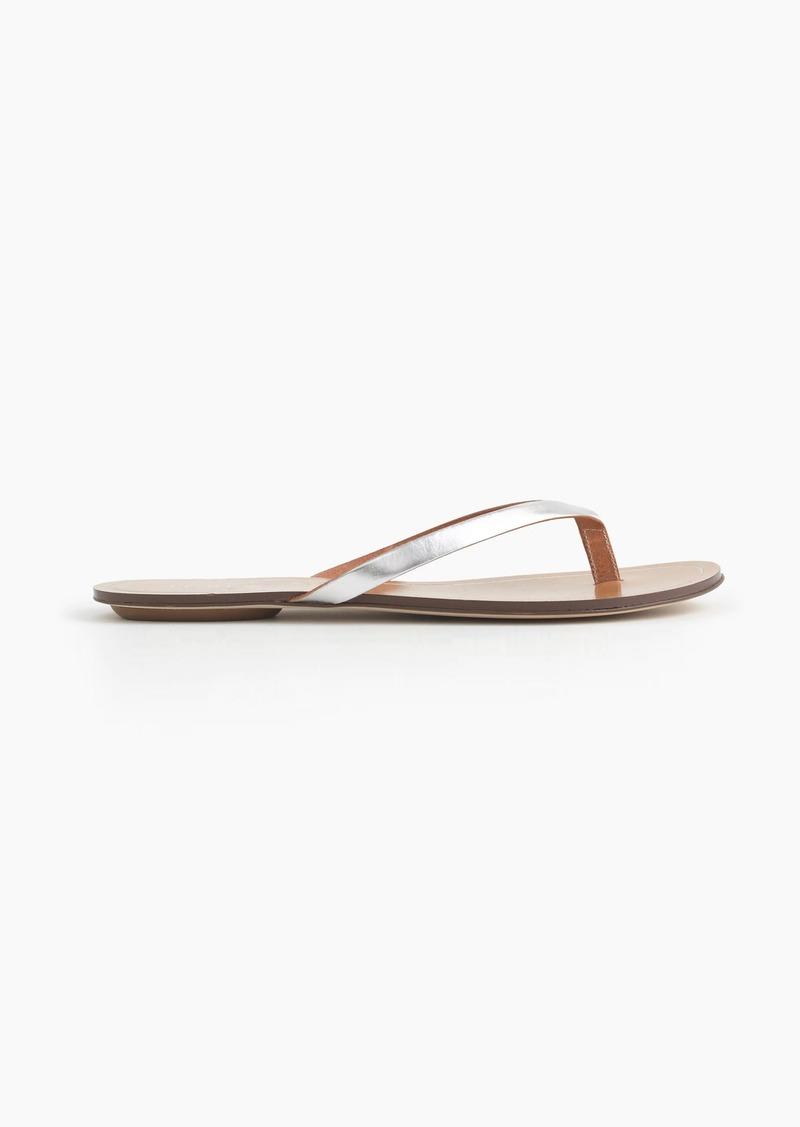 ac6805dde0c03 J.Crew Rio metallic sandals
