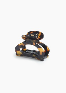 J.Crew Rounded open-sided hair clip in Italian tortoise