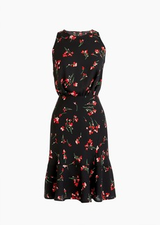 J.Crew Ruched-waist dress in falling floral