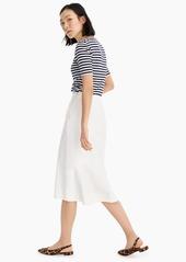 J.Crew Ruffle-back pencil skirt in bi-stretch cotton