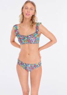 J.Crew Ruffle bikini top in island floral print