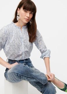 J.Crew Ruffle classic popover shirt in Liberty® Misti Valeria print