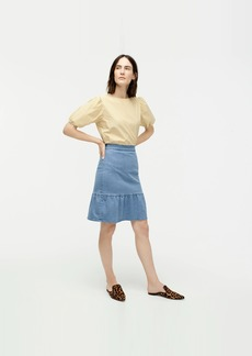 J.Crew Ruffle-hem denim skirt