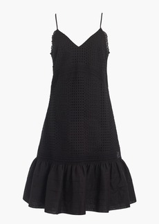 J.Crew Ruffle-hem spaghetti-strap dress in eyelet