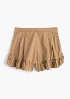 Ruffle khaki short