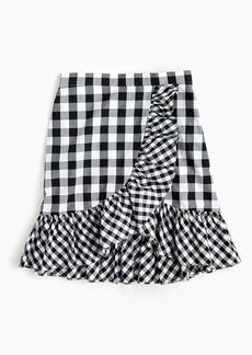 Ruffle mini skirt in gingham