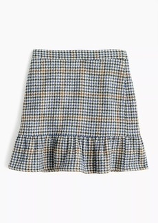J.Crew Ruffle mini skirt in houndstooth