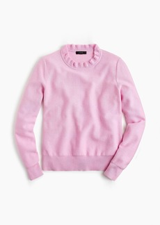 J.Crew Ruffle-neck pullover sweater