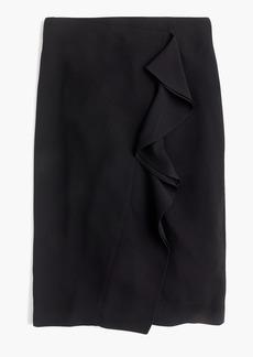 J.Crew Ruffle pencil skirt in 365 crepe