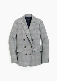 J.Crew Ruffle-pocket blazer in glen plaid