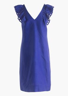 J.Crew Ruffle-shoulder sheath dress