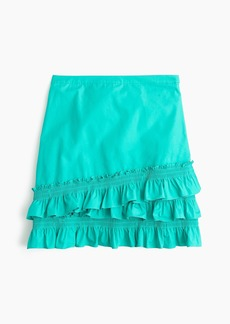 J.Crew Ruffle skirt in cotton-poplin