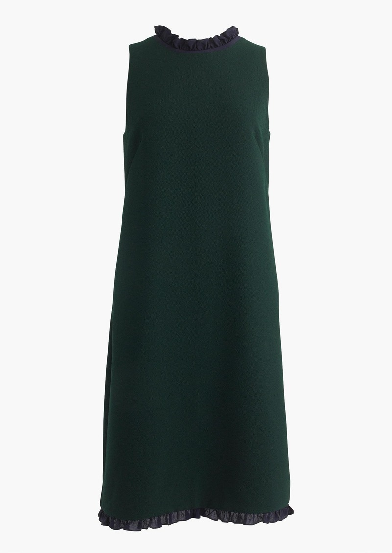 J.Crew Tall ruffle-trim shift dress