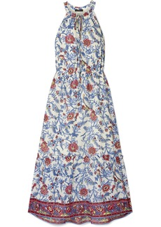 J.Crew Ruffle-trimmed Floral-print Cotton-voile Maxi Dress