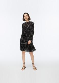 J.Crew Ruffled pleated polka-dot dress