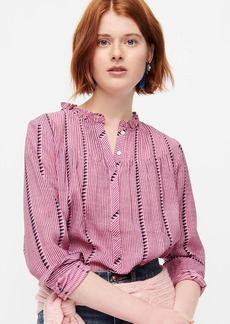 J.Crew Ruffleneck classic popover shirt in shadow stripe