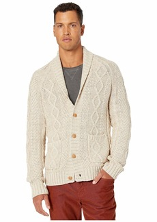 J.Crew Rugged Cotton Cable-Knit Shawl-Collar Cardigan Sweater