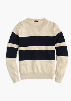 J.Crew Rugged cotton crewneck sweater in bold stripe
