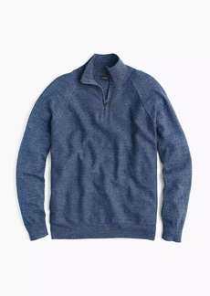 J.Crew Rugged cotton half-zip sweater