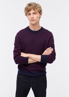 J.Crew Rugged merino birdseye crewneck sweater