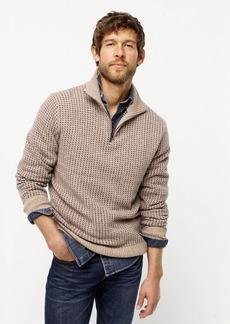 J.Crew Rugged merino birdseye half-zip sweater
