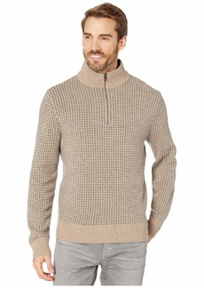 J.Crew Rugged Merino Birdseye Half-Zip Sweater