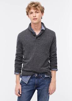 J.Crew Rugged merino shawl-collar donegal sweater