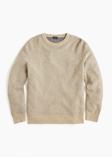 J.Crew Rugged merino wool bird's-eye crewneck sweater