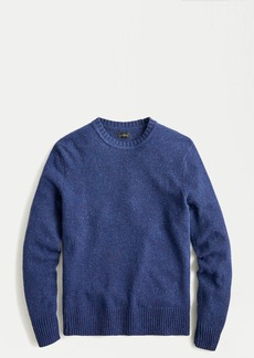 J.Crew Rugged merino wool donegal crewneck sweater