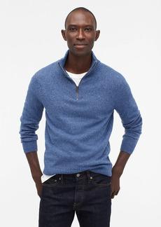 J.Crew Rugged merino wool donegal half-zip sweater