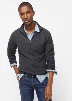 J.Crew Rugged merino wool half-zip mockneck sweater