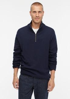J.Crew Rugged merino wool half-zip sweater