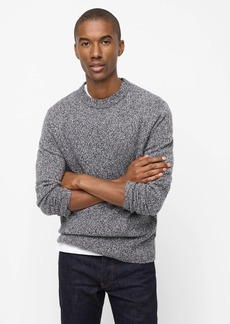 J.Crew Rugged merino wool heather crewneck sweater