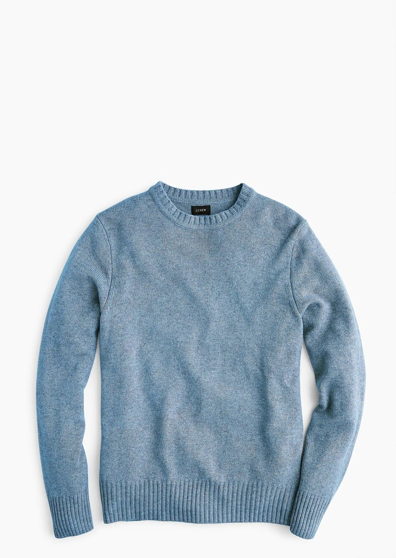 ea816b0db6e376 J.Crew Rugged merino wool heather crewneck sweater Now $28.99