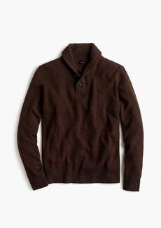 J.Crew Rugged merino wool two-button shawl-collar pullover