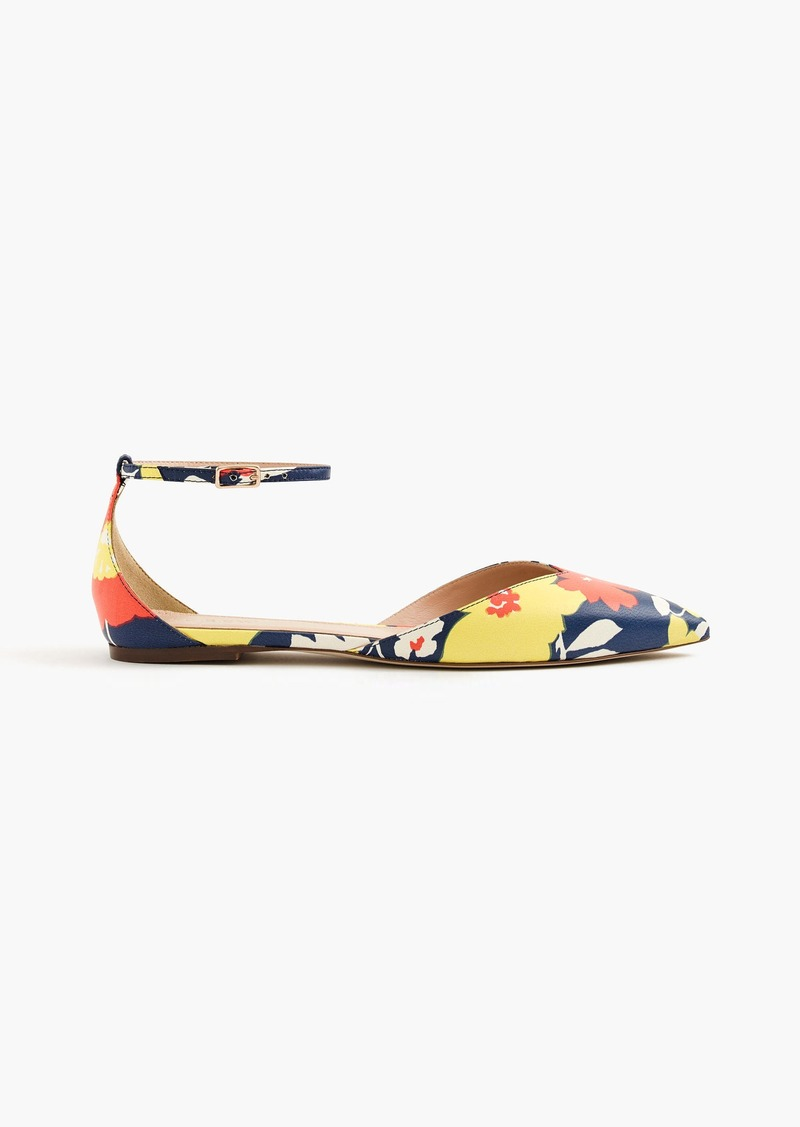 407d7f7aa84e J.Crew Sadie ankle-strap flats in vintage floral Now $109.99