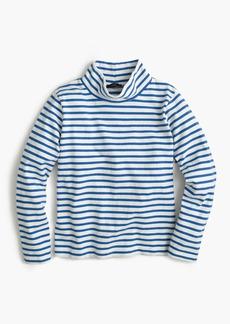 Sailor-stripe funnelneck T-shirt