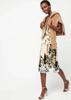 J.Crew Satin-bow paillette sequin skirt
