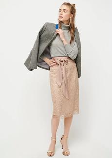 J.Crew Satin-bow skirt in metallic lace