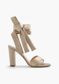 J.Crew Satin sandals with ankle wraps