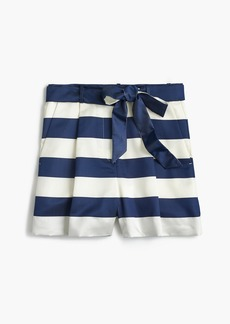 Satin short in stripe