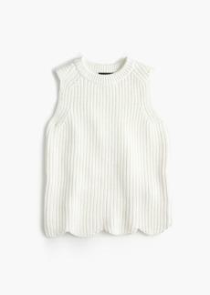 J.Crew Scalloped knit sweater shell