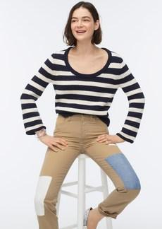 J.Crew Rolled scoopneck sweater in stripe