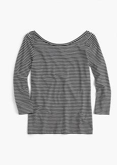Scoopback ballet T-shirt in stripe