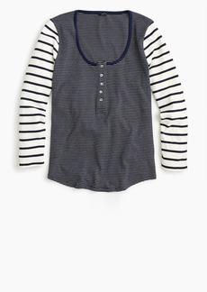 J.Crew Scoopneck henley shirt in mixed stripe